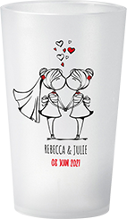 gobelet Mariage Personnages Rebecca & Julie