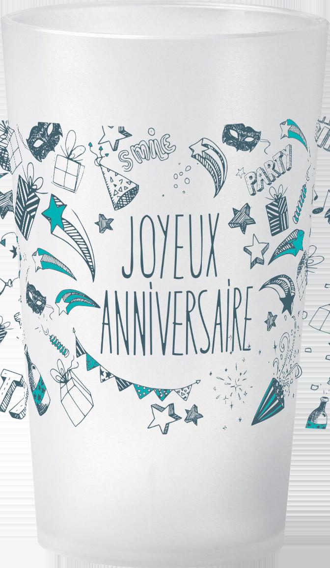 gobelet Petit-prix-Anniversaire-Joyeux-Anniversaire-Pattern