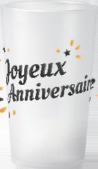 gobelet Petit-prix-Joyeux-Anniversaire-Noir&Orange