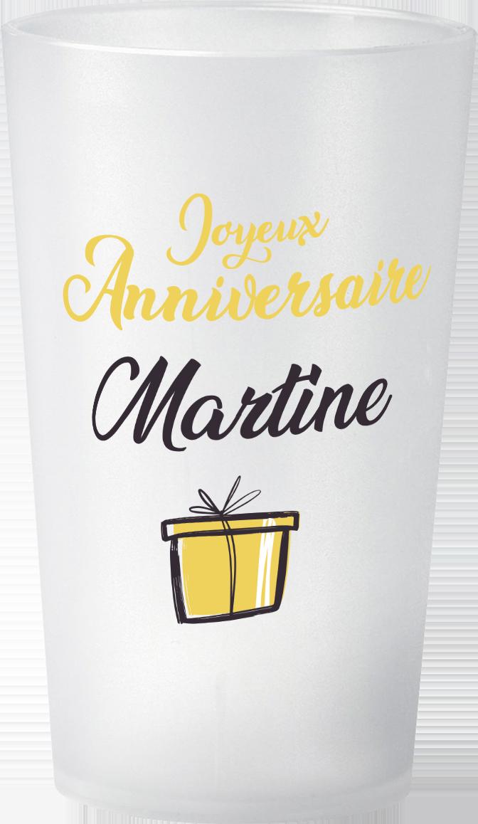 gobelet Anniversaire Adulte Martine