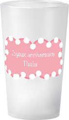 gobelet Anniversaire Fille Theme Glace