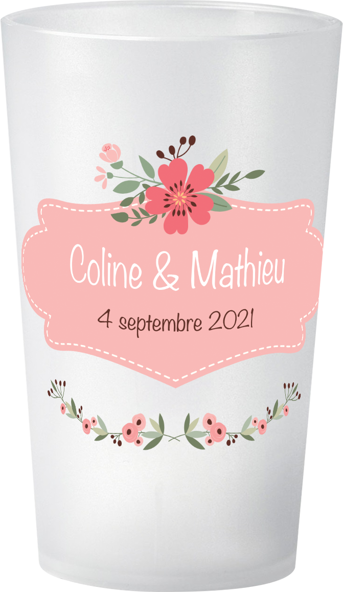 gobelet Mariage Coline & Mathieu photo