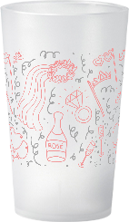 gobelet Mariage Rose & Gris